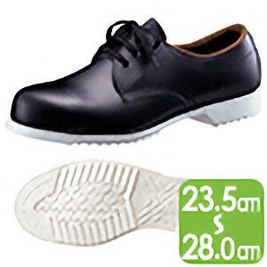 【在庫限り】 ゴム1層底 短靴 白底安全靴 ブラック