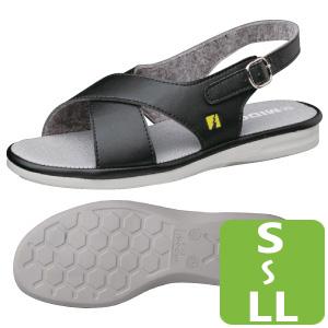 女性用 静電作業靴 PSレディCB ブラック