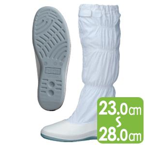 男女兼用 静電作業靴 エレパスクリーンブーツ SU571 ホワイト
