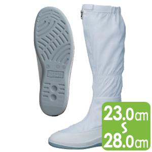 男女兼用 静電作業靴 エレパスクリーンブーツ SU561 ホワイト