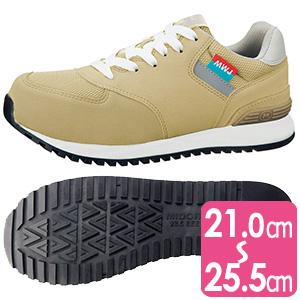 ワーク女子力作業靴 MWJ−110A ベ−ジュ