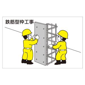 作業予定マグネット板 301−25 鉄筋型枠工事