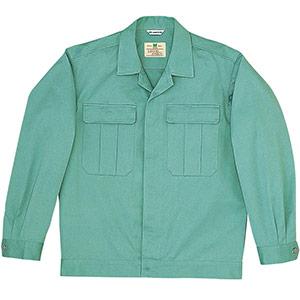 綿2つポケットジャンパー M6079 上 エメラルドグリーン