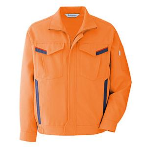 ベルデクセルフレックス プランテックス ストレッチブルゾン VE365 上 オレンジ