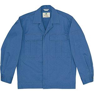 混紡4つポケットジャンパー M5603 上 ブルー