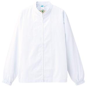 白衣 男女共用 長袖ブルゾン MH05 上 ホワイト
