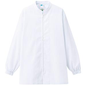 白衣 男女共用 長袖コート MH07 上 ホワイト