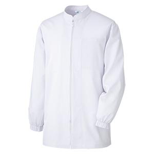 白衣 男女共用 長袖コート MH307 上 ホワイト