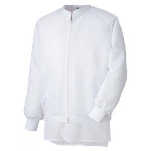 白衣 男女共用 長袖ブルゾン MH318W上 ホワイト