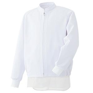 白衣 男女共用 長袖ブルゾン MH319W 上 ホワイト