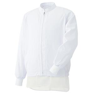 白衣 男女共用 長袖ブルゾン MH320W 上 ホワイト