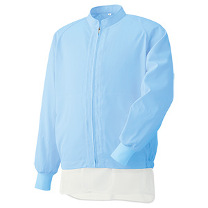白衣 男女共用 長袖ブルゾン MH320B 上 ブルー