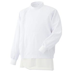 白衣 男女共用 長袖ブルゾン MH321W 上 ホワイト