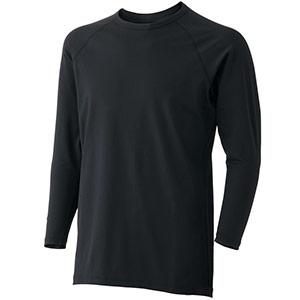 男女共用 長袖Tシャツ ウォームインナー FTW11BK 上 ブラック