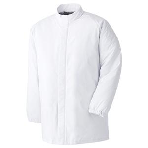 食品工場用 男女共用 防寒コート MH1000W上 ホワイト