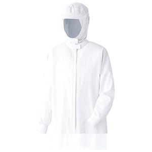 ベルデクセル 男女共用 フード一体型 長袖ジャンパー 薄地 VEH323FW上 ホワイト