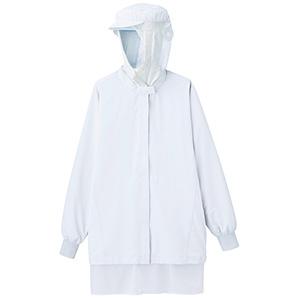 ベルデクセル 男女共用 フード一体型 長袖ブルゾン 薄地 VEH333FW上 ホワイト