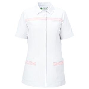 ベルデクセル 女性用チュニック VEM55上 ホワイト×ピンク