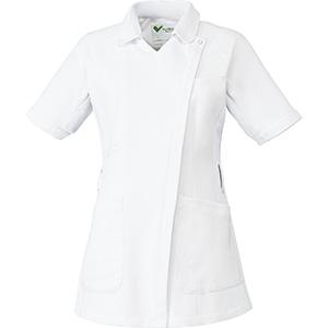 ベルデクセル 女性用チュニック VEM130上 ホワイト×ホワイト