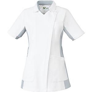 ベルデクセル 女性用チュニック VEM131上 ホワイト×シルバーグレー