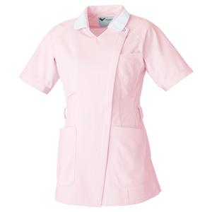 ベルデクセル 女性用チュニック VEM235上 ピンク×ホワイト