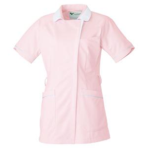 ベルデクセル 女性用チュニック VEM245上 ピンク×ホワイト