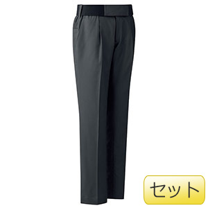 女性用楽腰パンツセット VEL509下 チャコール (7〜17号)