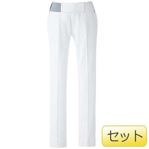 レディース楽腰パンツセット VEM60下 ホワイト (S〜4L)