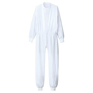 ベルデクセル 男女共用 ツナギ型白衣 VEHS2111W 超薄 ホワイト