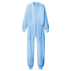男女共用 ツナギ型白衣 VEHS2111B ブルー