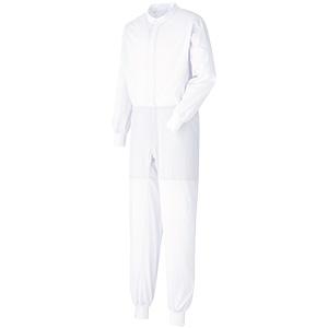 ベルデクセル 男女共用ツナギ型白衣 VEHS2101W ホワイト
