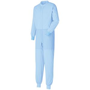 ベルデクセル 男女共用 ツナギ型白衣 VEHS2101B ブルー