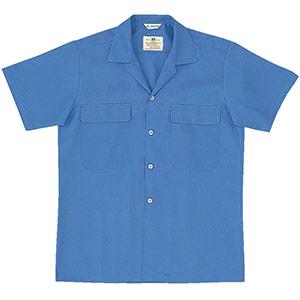 綿100% 男子半袖シャツ MS103 上 ブルー