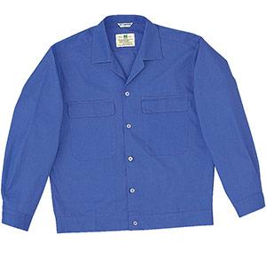 綿100% 男子長袖ジャンパー MS4003 上 ブルー