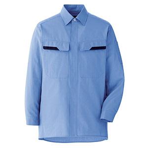 ベルデクセルコットン 綿100% シャツ VES2402上 ライトブルー
