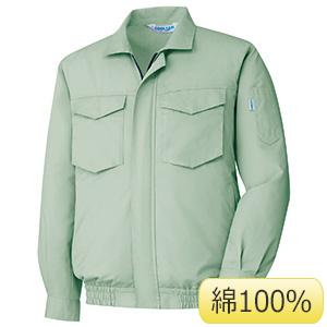 クールファン コットン100% ブルゾン(ファン別売) WE36 上 ライトグリーン