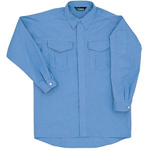 男女共用 綿長袖シャツ GS2373上 ライトブルー