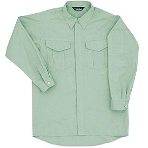 男女共用 綿長袖シャツ GS2376上 ライトグリーン