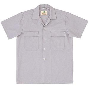 混紡 男子半袖シャツ MS502 上 シルバーグレー