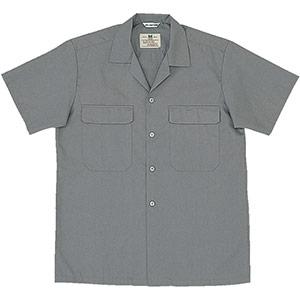 混紡 男子半袖シャツ MS504 上 グレー