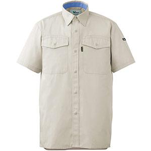 抗菌防臭 ペア半袖シャツ GS310 上 アイボリー