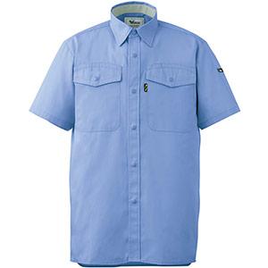 抗菌防臭 ペア半袖シャツ GS313 上 ブルー