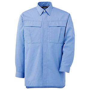 男女ペア長袖シャツ GS2573 上 ライトブルー