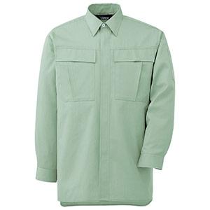 男女ペア長袖シャツ GS2576 上 ライトグリーン