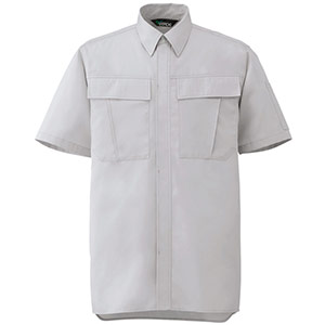 男女ペア半袖シャツ GS571 上 シルバーグレー