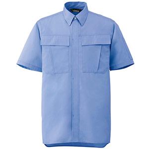 男女ペア半袖シャツ GS573 上 ライトブルー
