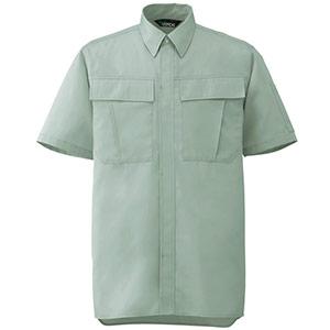 男女ペア半袖シャツ GS576 上 ライトグリーン