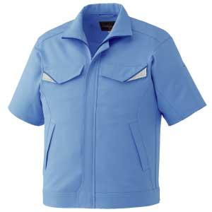 ベルデクセルフレックス 半袖ジャンパー VES13 上 ブルー