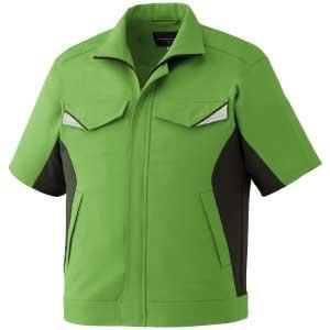 ベルデクセルフレックス 半袖ジャンパー VES16上 グリーンXモスグリーン