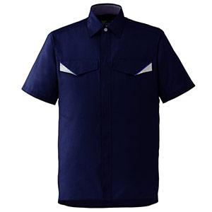 ベルデクセルフレックス 半袖シャツ VES27 上 ネイビー
